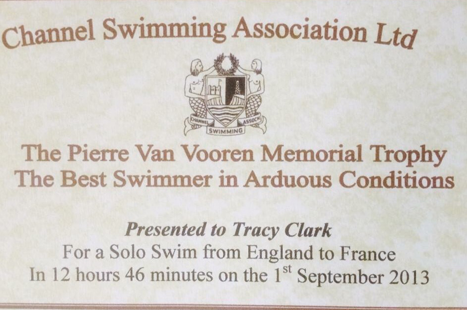 English Channel Swim Association Best Swimmer In Arduous Conditions