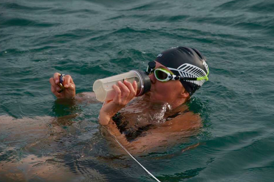 English Channel Swim Feeding