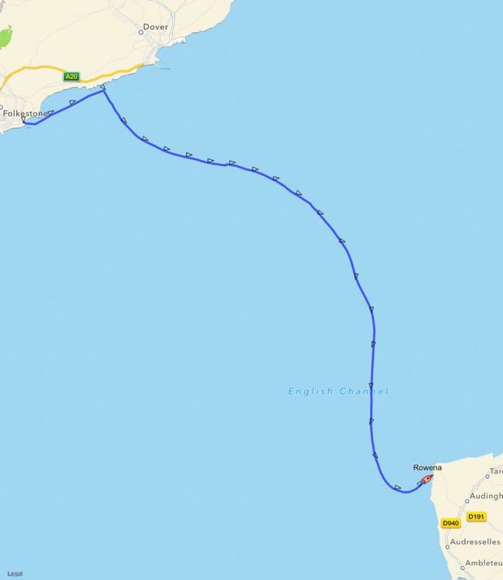 English Channel Swim Track