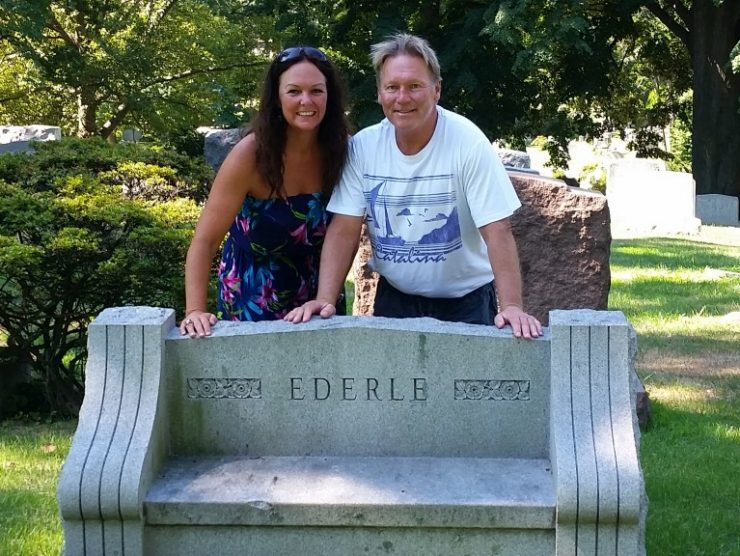 Gertrude Ederle Grave with Roger Finch