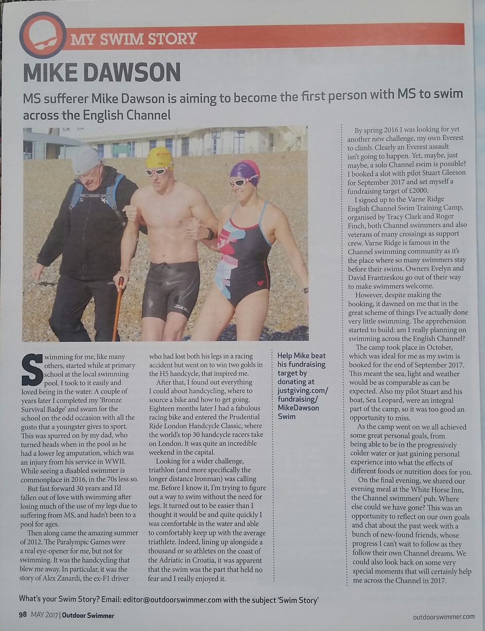 Mike Dawson Outdoor Swimmer Magazine