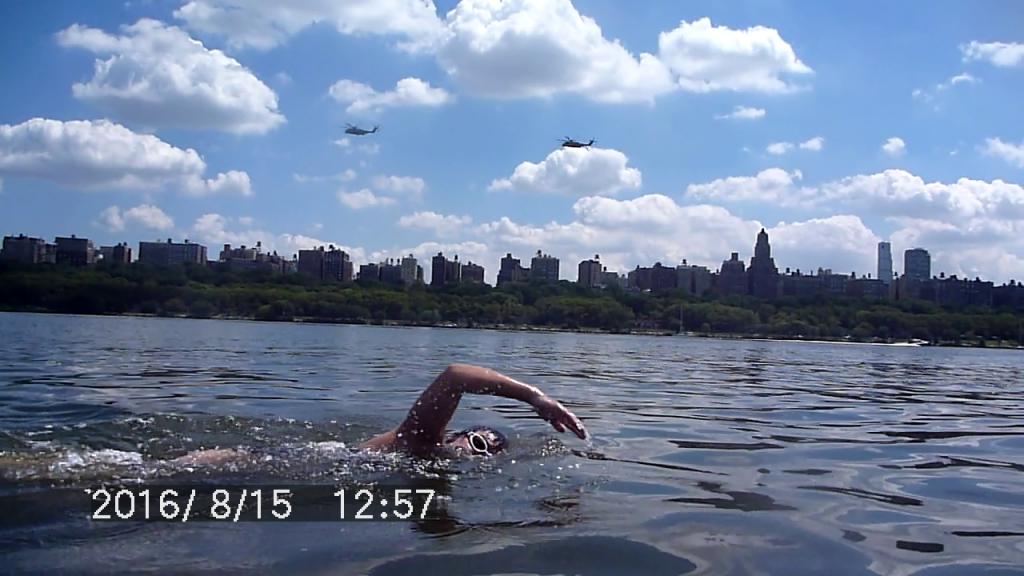 Swimming along the Hudson River