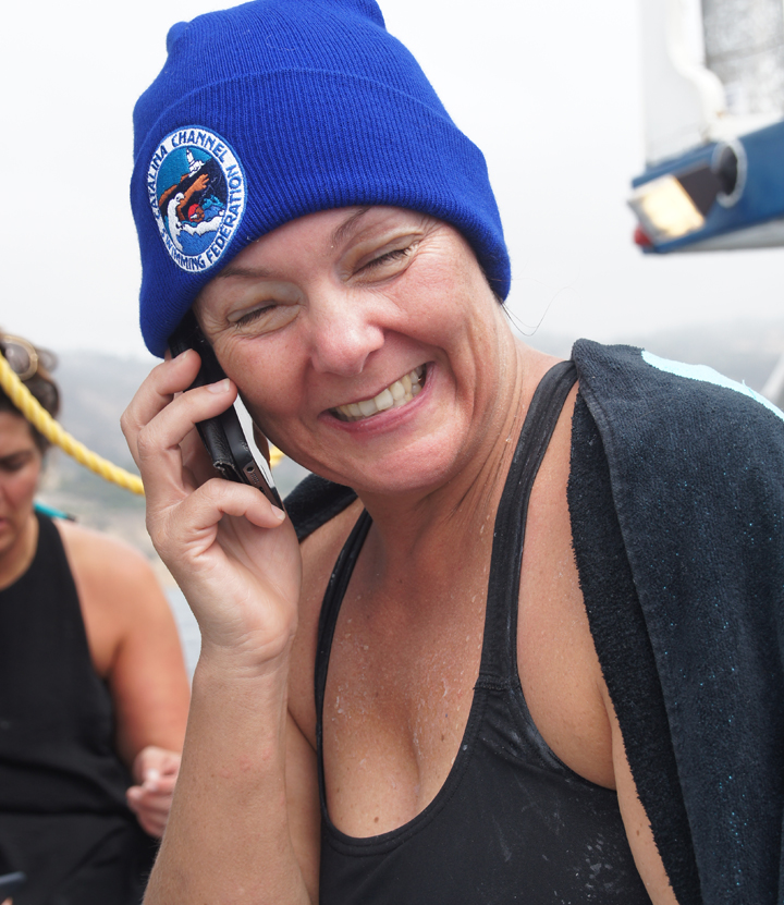 catalina-channel-swim-phoning-home